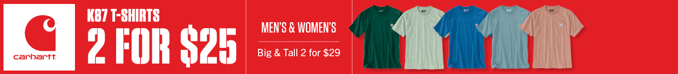 2 for $25 Men's and Women's K87 T-Shirts (2 for $29 Big and Tall)