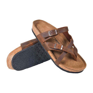 Women's  Zivah Criss Cross Leather Strappy Sandal