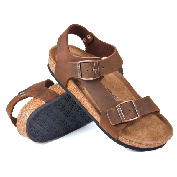 Aegis Ankle Strap Leather Sandals