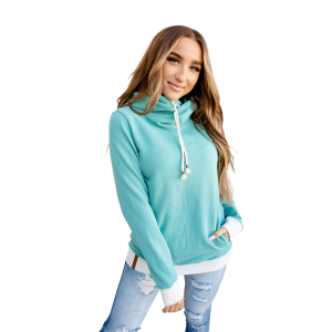 Women's  Teal & Grey Hooded Sweatshirt