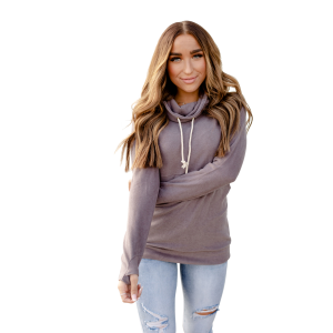 Women's  Performance Fleece Grey Cowl Neck Sweatshirt