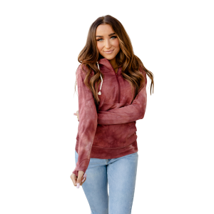 Women's  Berry Tie Dye Half Zip Sweatshirt