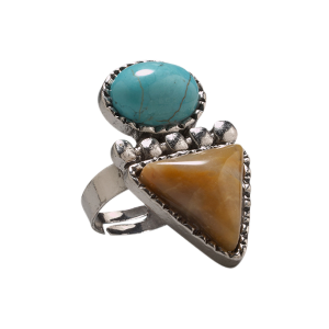 Women's  Turquoise/Brown Stone Ring