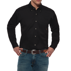 Men's  Solid Twill Button Down Shirt