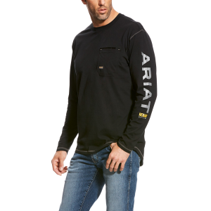 Men's  Rebar Logo Long Sleeve T-Shirt