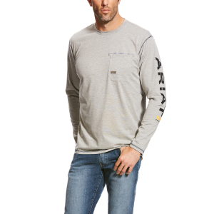 Men's  Rebar Workman Logo Long Sleeve T-Shirt