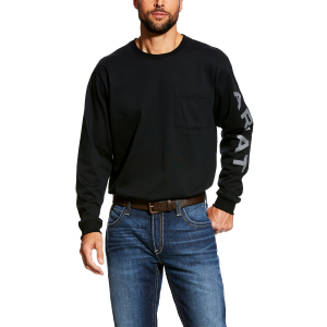 Men's  FR Arm Logo Long Sleeve Crew