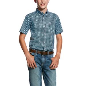 b39becf367497 Boys' Murino Stretch Print Shirt