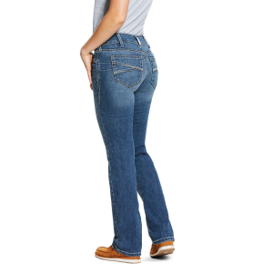 Women's  REAL Mid Rise Stretch Presley Stackable Straight Leg Jean