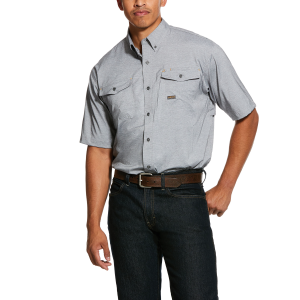 Men's  Rebar Made Tough Durastretch Vent Shirt