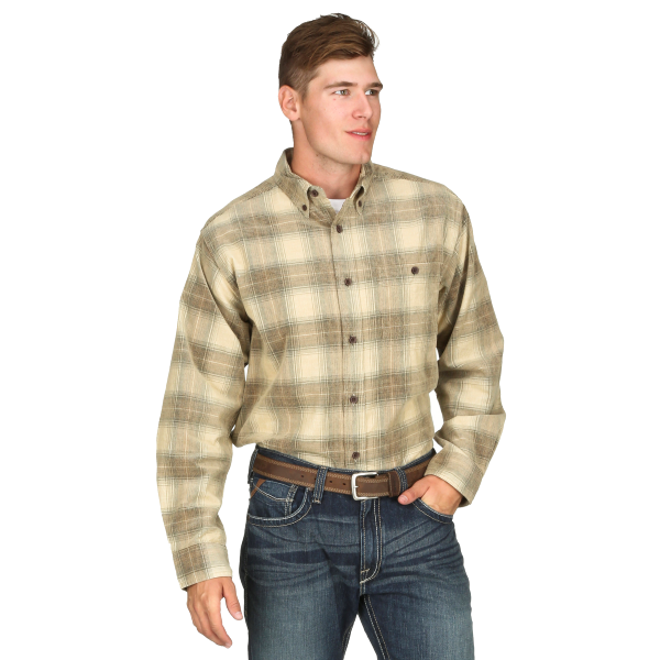 Plaid Corduroy Long Sleeve  Button Down