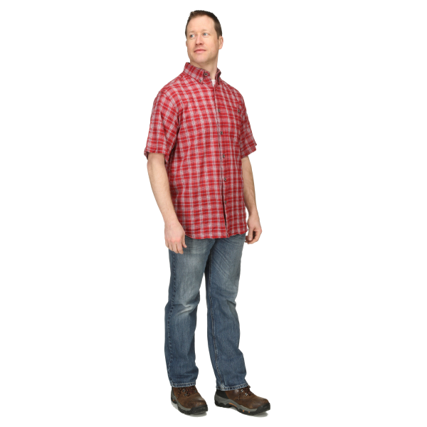 Fatigue Plaid Short Sleeve Button Down Shirt