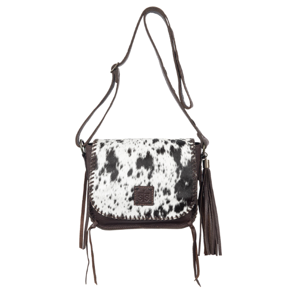 Selah's Saddle Hair On Hide Crossbody Bag