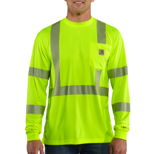 Men's  High-Visibility Force High Visibility Long Sleeve Class 3 Tee