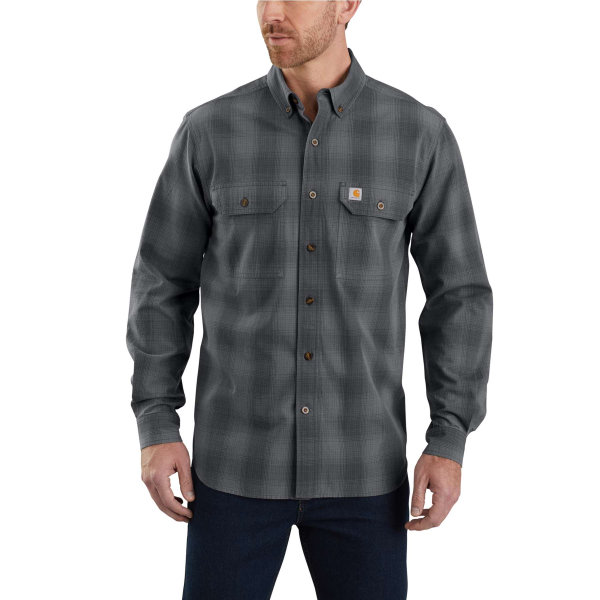 Fort Plaid Button Down Long Sleeve Shirt
