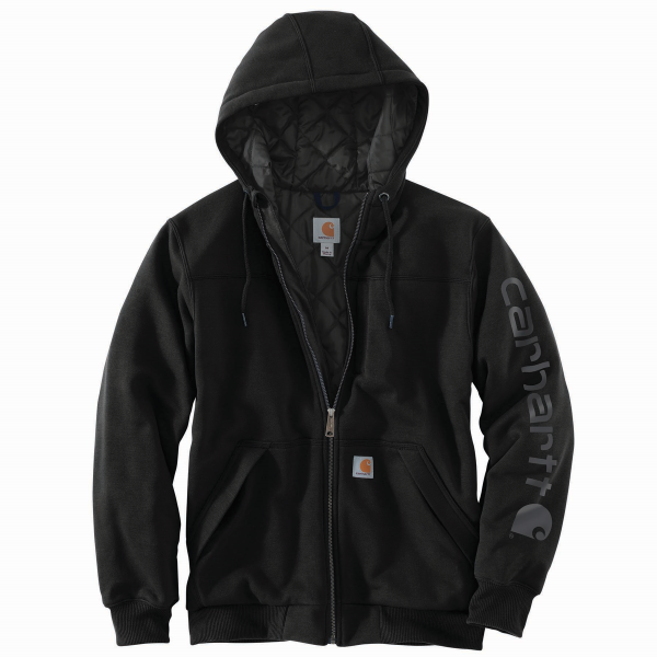 Lined Zip Front Graphic Hooded Sweatshirt