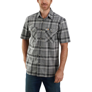 Men's  TW171-M Rugged Flex Relaxed Fit Lighweight Short Sleeve Plaid Shirt