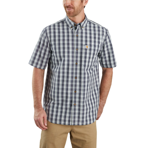 Men's  TW174-M Relaxed Fit Lightweight Short Sleeve Plaid Shirt