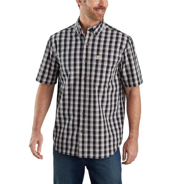 TW174-M Relaxed Fit Lightweight Short Sleeve Plaid