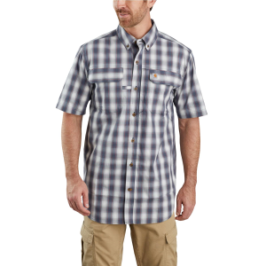 Men's  TW258-M Force Rugged Flex Relaxed Fit Lightweight Short Sleeve Plaid Shirt