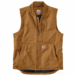 Men's  Washed Duck Insulated Rib Collar Vest
