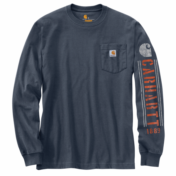 Original Fit Heavyweight Long Sleeve Pocket Logo Graphic Tee