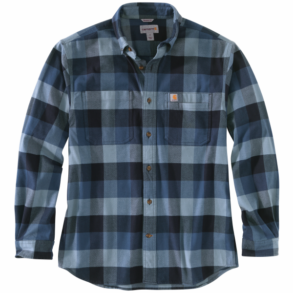 Rugged Flex Relaxed Fit Flannel Plaid Long Sleeve Shirt