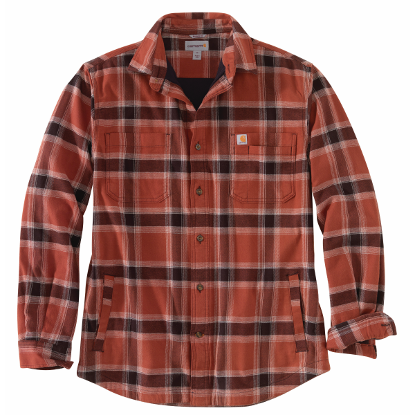 Rugged Flex Relaxed Fit Flannel Fleece-Lined Plaid Shirt