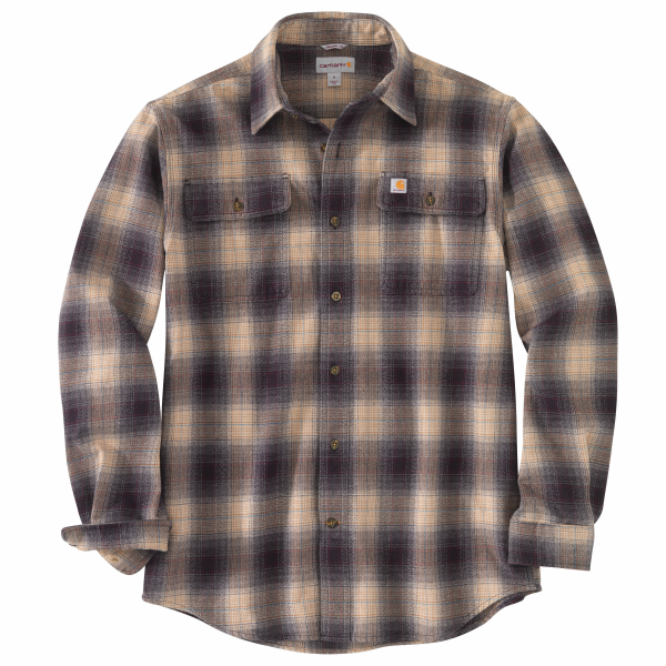 Original Fit Flannel Long-Sleeve Plaid Shirt