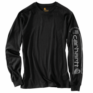 Men's  Relaxed Fit Midweight Long Sleeve Graphic Tee