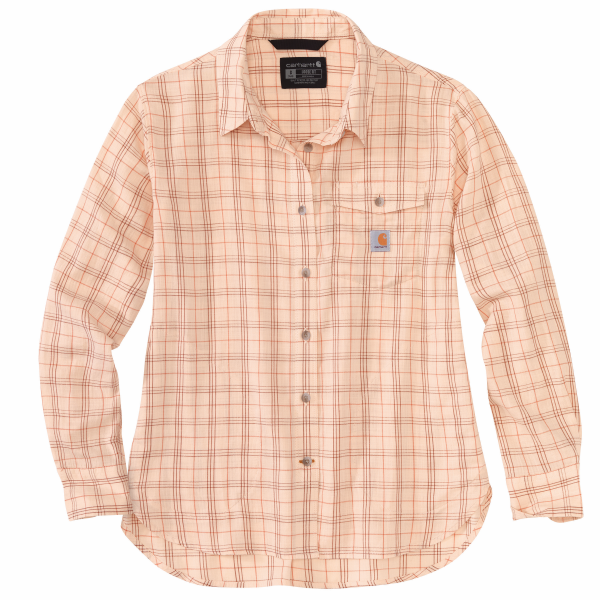 Loose Fit Lightweight Plaid Shirt