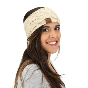 Women's  Sequin Cable Knit Headband