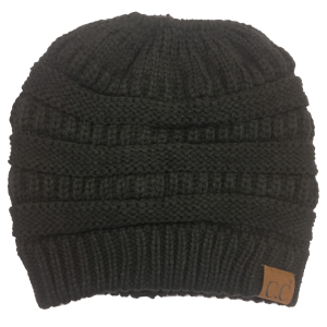 Women's  Beanie Tail Cable Knit Beanie