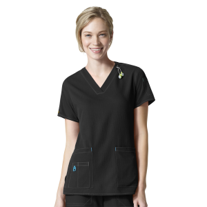 Women's  V-Neck Media Scrub Top