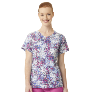 Women's  Printed Y-Neck Fashion Top