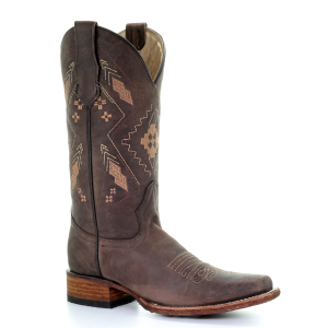 "Women's  11"" Ethnic Embroidered Square Toe Boot"