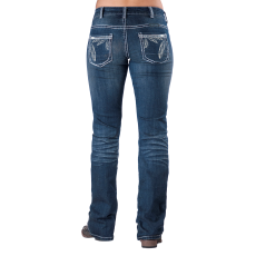 Women's  Feather Stitch Boot Cut Jean image