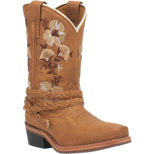 Kids'  Floral Snip Toe Western Boot