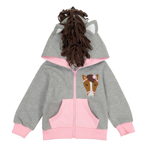 Girls'  Infant/Toddler Pink Horse Hoodie