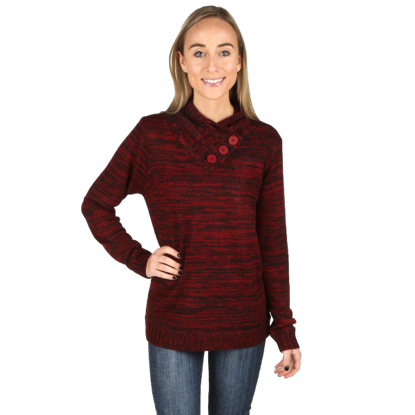 Cross Over V-Neck Long Sleeve Sweater