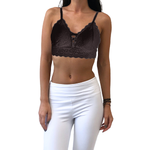 Women's  Lattice Front Lace Bralette