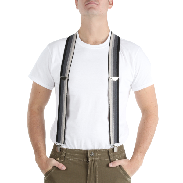 "2"" Wide Striped Suspenders"