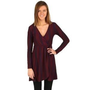 e819da7039b Women s Bambi s Yummy Long Sleeve Wrap Dress