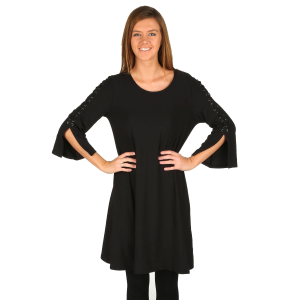 e7f65d20cd4 Women s 3-Quarter Bell Sleeve Swing Dress