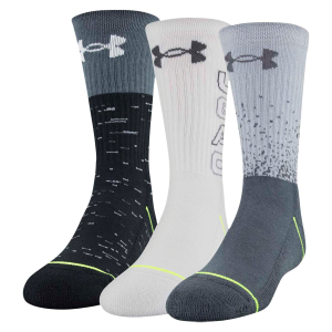 Kids'  UA Phenom 5.0 Crew Sock 3-Pack