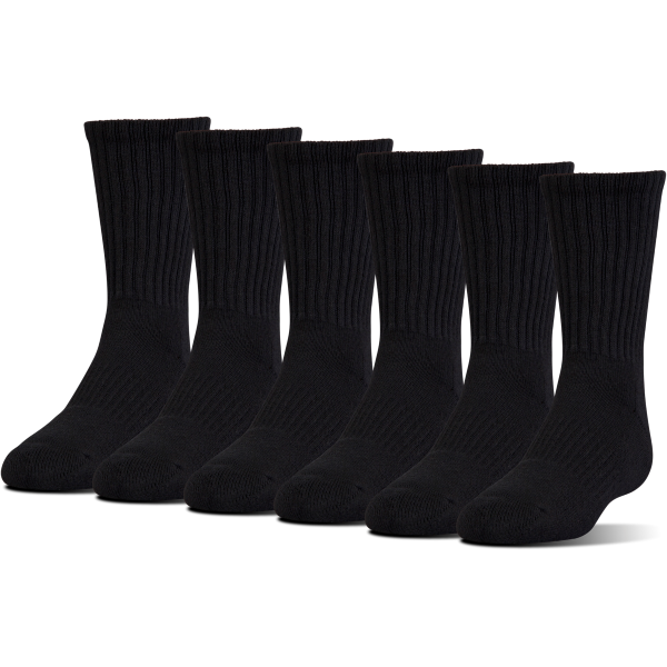 UA Charged Cotton 2.0 Crew Sock  6-Pack