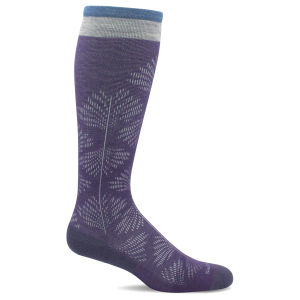 Women's  Full Floral Knee High Graduated Compression Sock