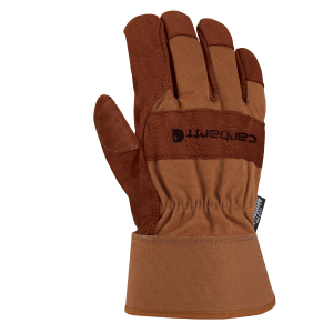 Men's  Insulated Bison Leather Safety Cuff Work Glove