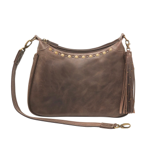 Distressed Leather RFID Concealed Carry Hobo Purse