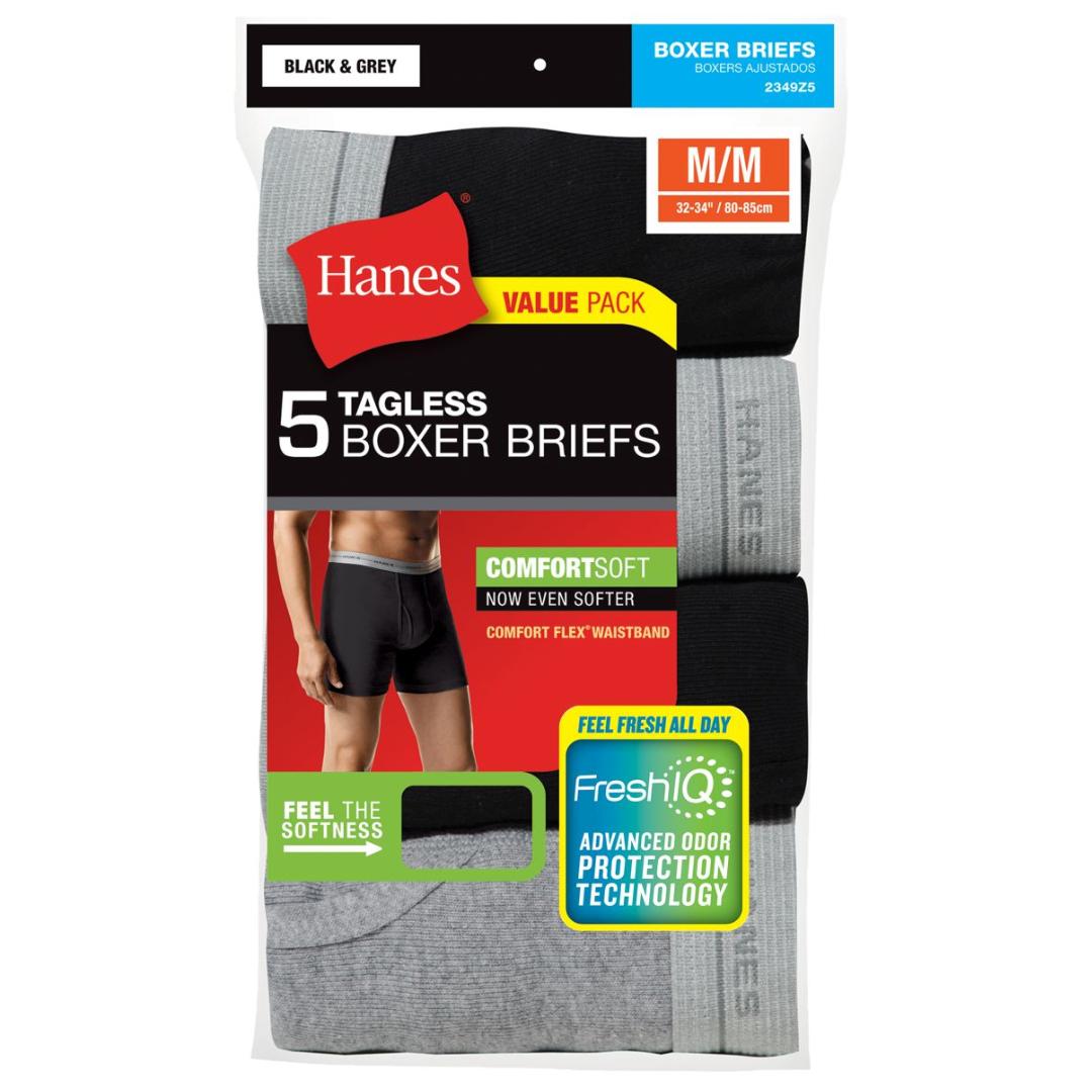 Hanes Tagless Men`s No Ride Up Briefs with Comfort Flex Waistband